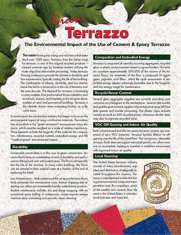 Green Terrazzo Information Guide